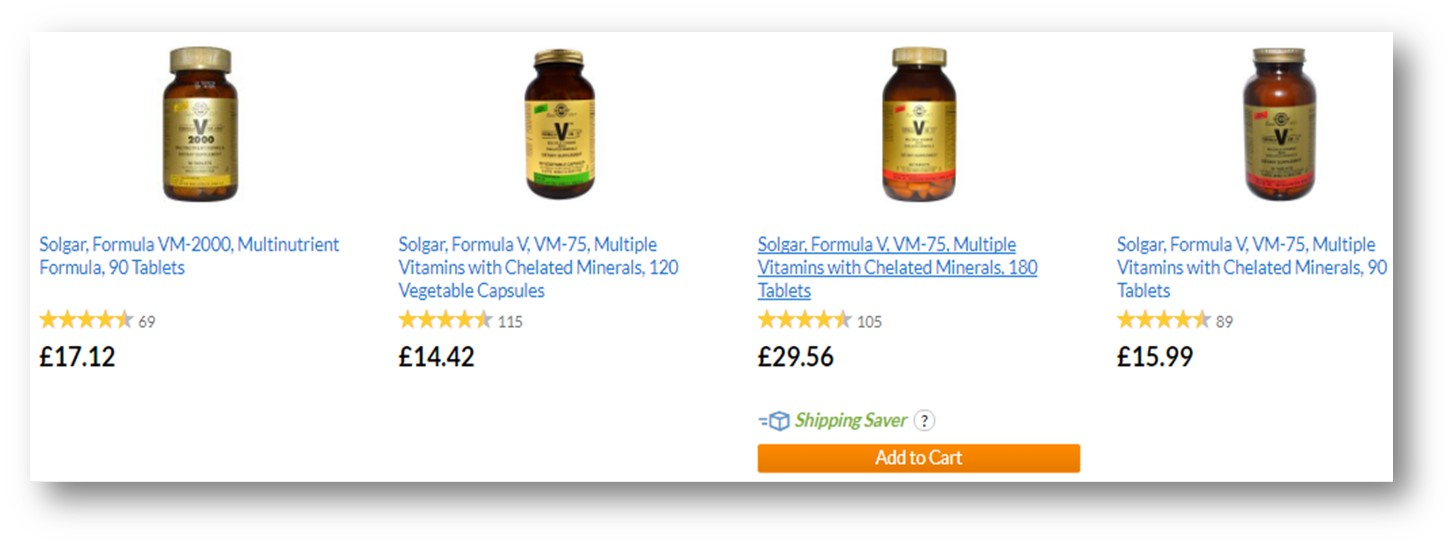 iherb search results