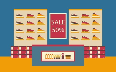 شراء الأحذية عبر الإنترنت