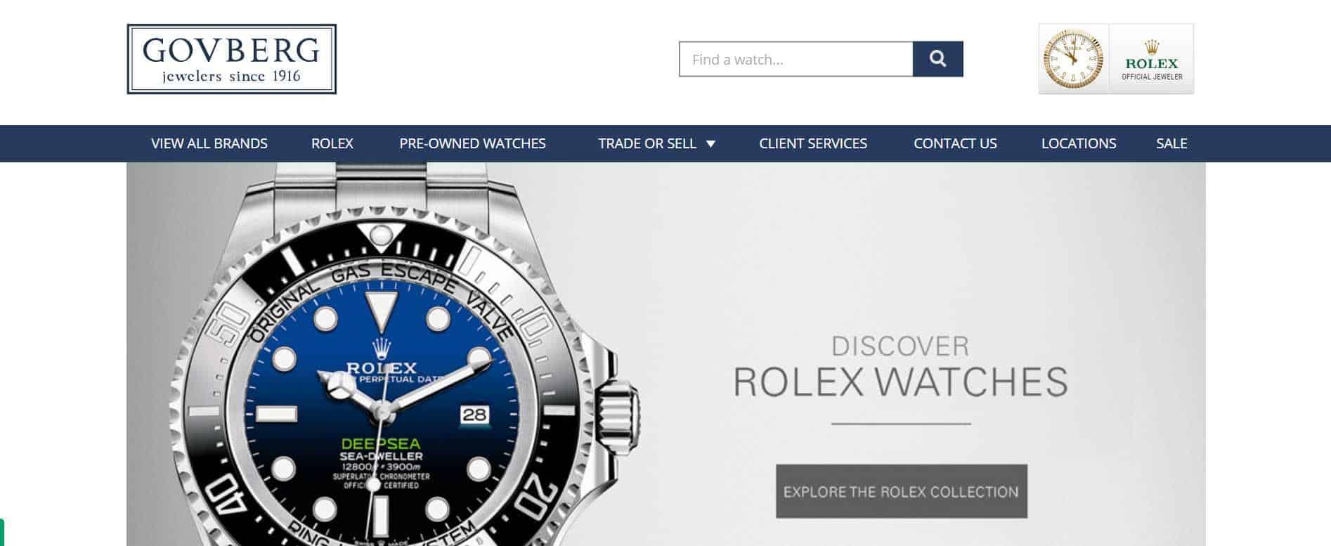 govberg luxury watches black friday