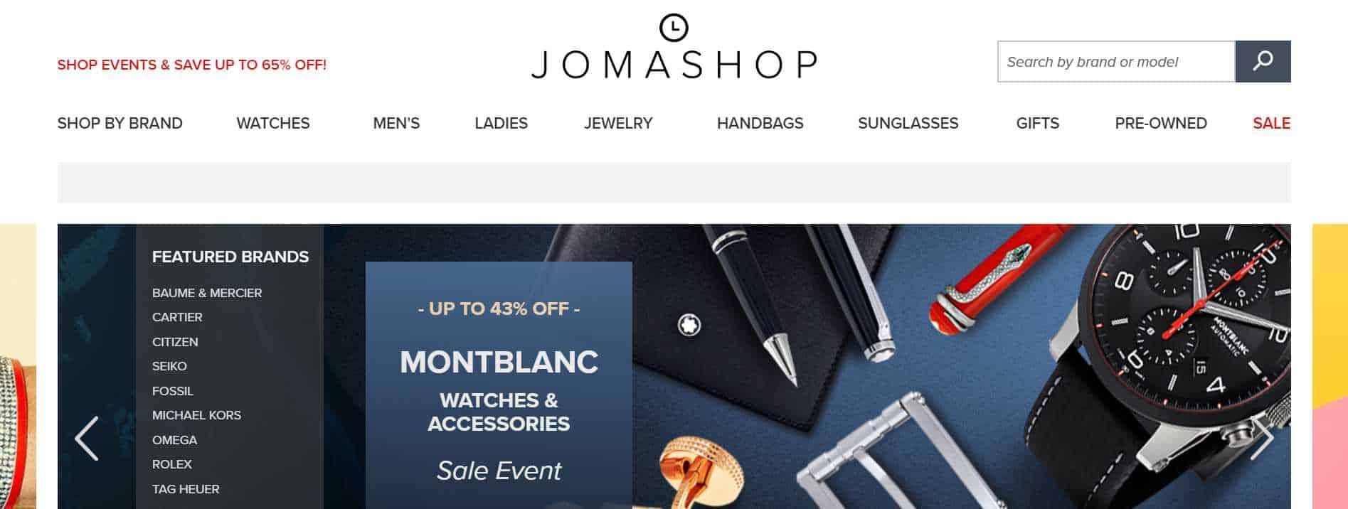 jomashop luxury watches black friday 2018