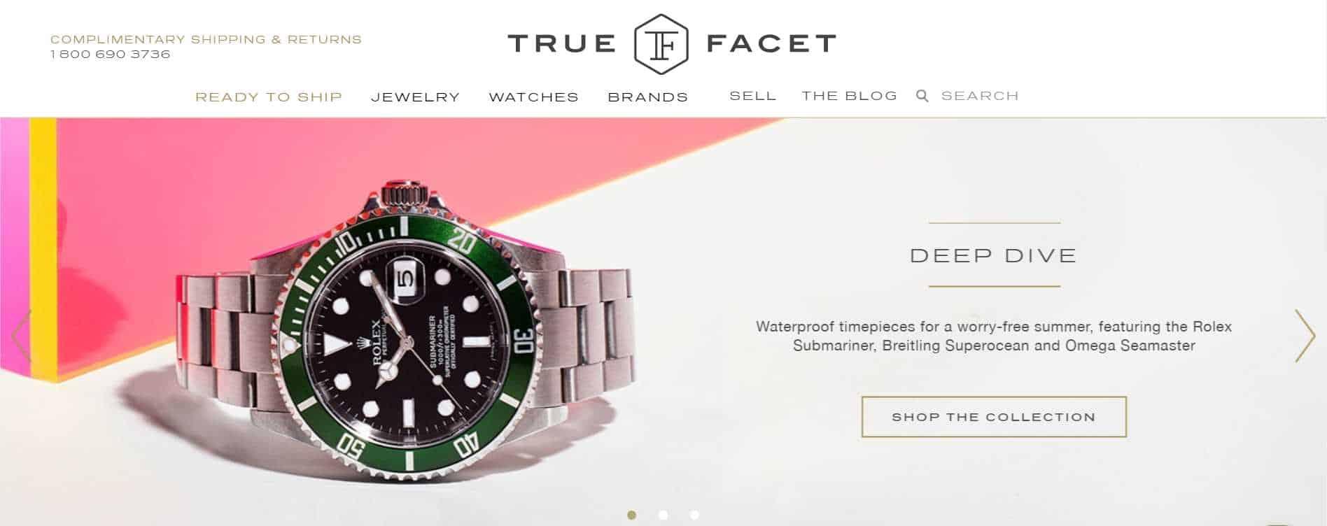 truefacet luxury watches online